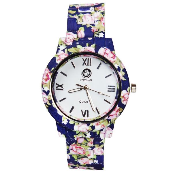 ساعت مچی عقربه ای زنانه مویا مدل Flower-03