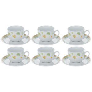 سرویس چای خوری 12 پارچه چینی زرین ایران سری ایتالیا اف مدل Mayorka درجه یک