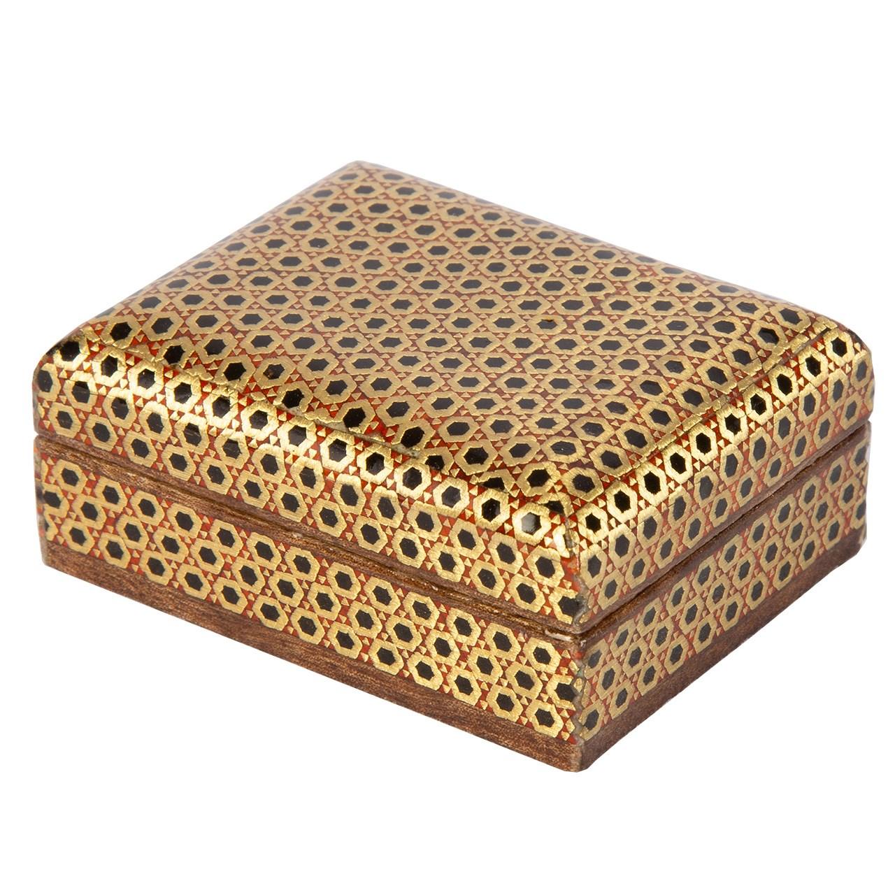 جعبه سکه خاتم کاری گالری گوهران مدل ناهید کد 1365