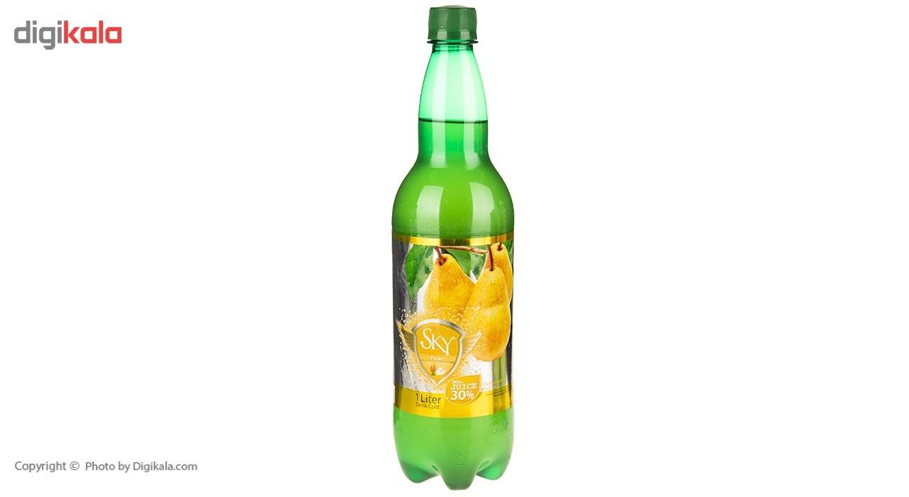 نوشیدنی گازدار با طعم گلابی اسکای مقدار 1 لیتر