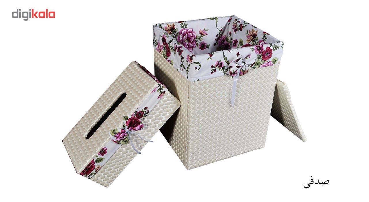 ست سطل و جا دستمال کاغذی شایگان مدل 033 main 1 3