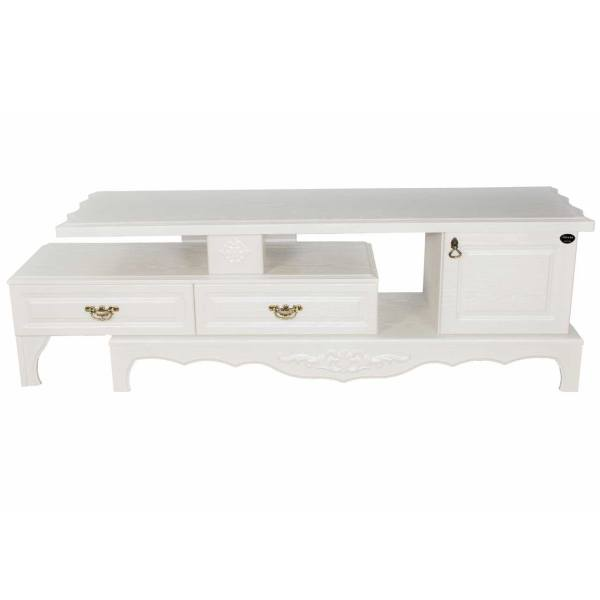 میز تلویزیون پرادا مدل PERADA-V_145_W سفید صدفی