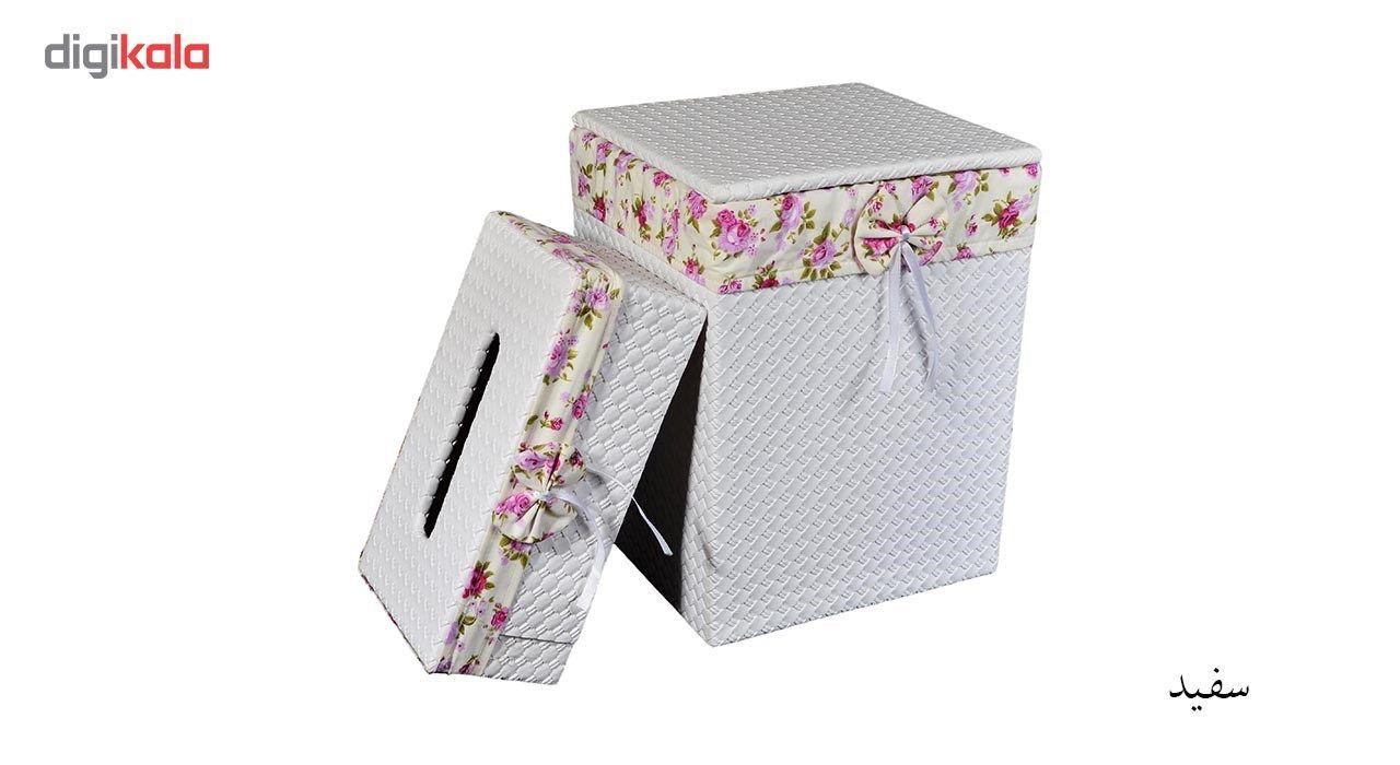 ست سطل و جا دستمال کاغذی شایگان مدل 033 main 1 5