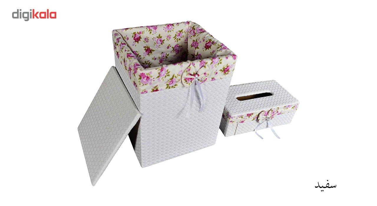 ست سطل و جا دستمال کاغذی شایگان مدل 033 main 1 7