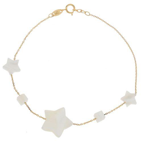 دستبند طلا 18 عیار ماهک مدل MB0818 - مایا ماهک