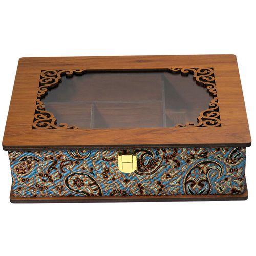 جعبه پذیرایی دمنوش چایی کیسه ای لوکس باکس کد LBL55