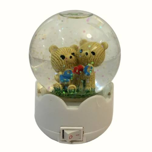 چراغ خواب گوی گالری نفیس مدل خرس کوچک کد np3