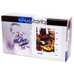 سرویس آشپزخانه چاپی 9 تکه رزین تاژ طرح فلفل سیاه