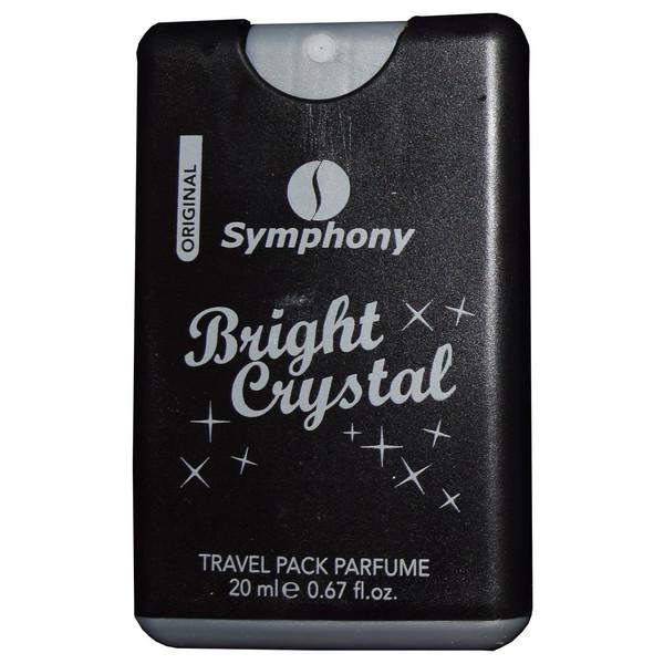 عطر جیبی زنانه سیمفونی مدل Bright Crystal حجم 20 میلی لیتر