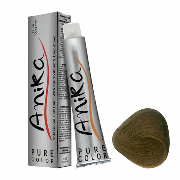 رنگ مو آنیکا سری نسکافه مدل بلوندنسکافه ای تیره شماره 6.7