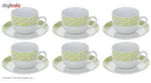 سرویس چای خوری 12 پارچه چینی زرین ایران سری ایتالیا اف مدل Aten درجه یک