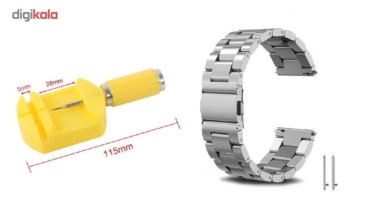 بند ساعت هوشمند مدل Ceramics-1 مناسب برای Gear S3 و galaxy watch 46 mm به همراه محافظ صفحه نمایش و   آچار برای تغییر اندازه بند  main 1 1
