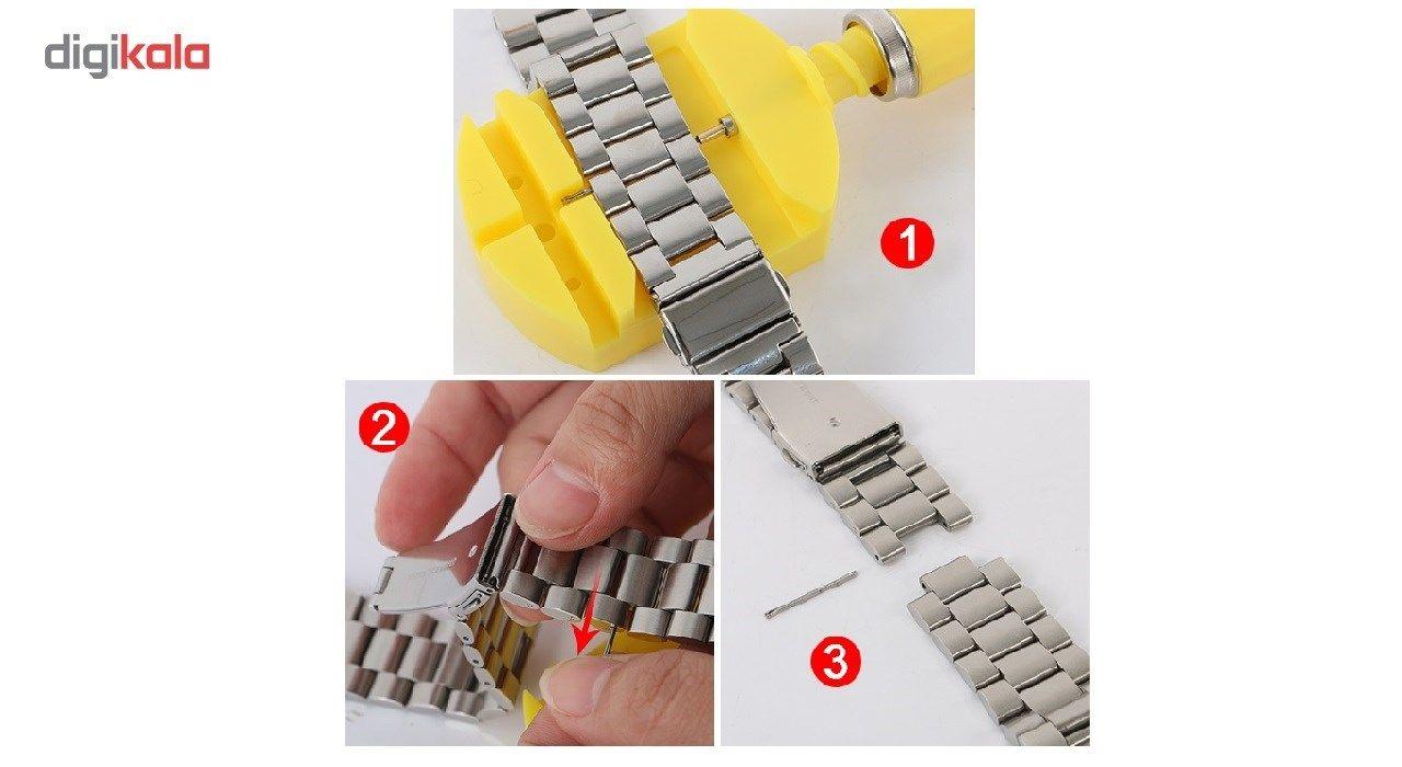 بند ساعت هوشمند مدل Ceramics-1 مناسب برای Gear S3 و galaxy watch 46 mm به همراه محافظ صفحه نمایش و   آچار برای تغییر اندازه بند  main 1 3