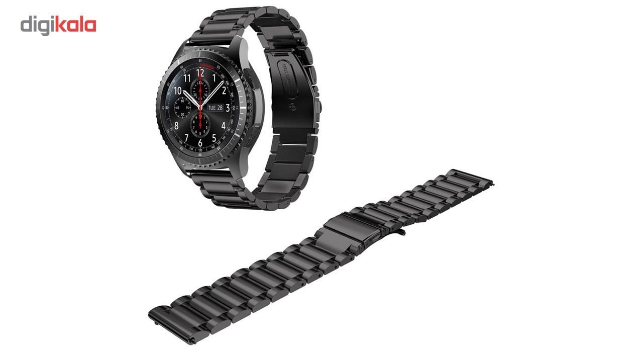 بند ساعت هوشمند مدل Ceramics-1 مناسب برای Gear S3 و galaxy watch 46 mm به همراه محافظ صفحه نمایش و   آچار برای تغییر اندازه بند  main 1 4