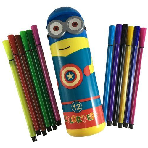 ماژیک 12 رنگ طرح مینیون مدل color peps
