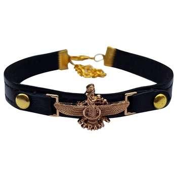 دستبند چرم خاطره طرح فروهر