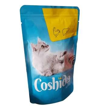 غذای تشویقی گربه کوشیدا مدل chicken & liver وزن 100گرم