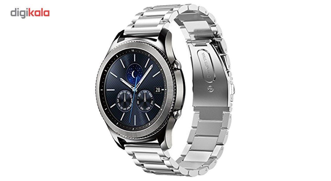 بند ساعت هوشمند مدل Ceramics-1 مناسب برای Gear S3 و galaxy watch 46 mm به همراه محافظ صفحه نمایش و   آچار برای تغییر اندازه بند  main 1 5