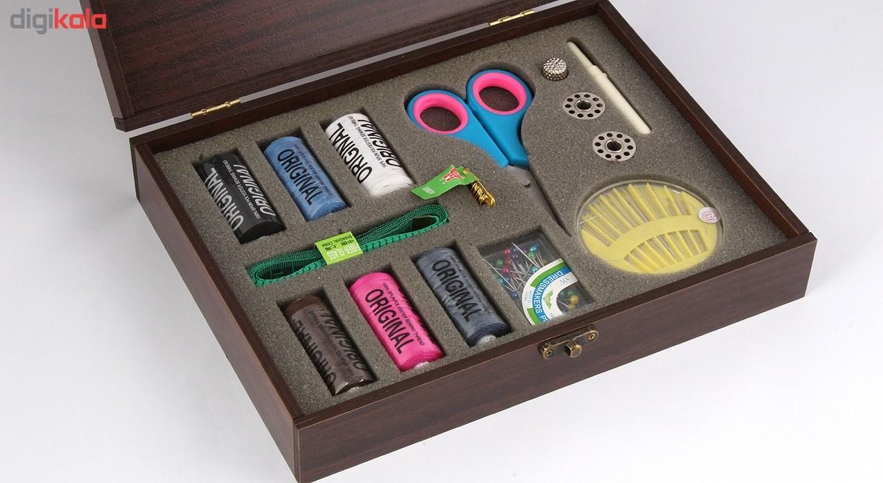 فروش جعبه چوبی انواع لوازم خیاطی هوم لوکس مدل JB603