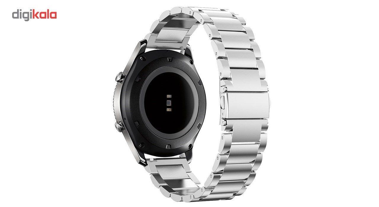 بند ساعت هوشمند مدل Ceramics-1 مناسب برای Gear S3 و galaxy watch 46 mm به همراه محافظ صفحه نمایش و   آچار برای تغییر اندازه بند  main 1 9