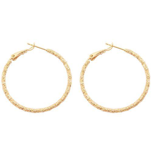 گوشواره ژوپینگ مدل Golden Single Ring  کد35
