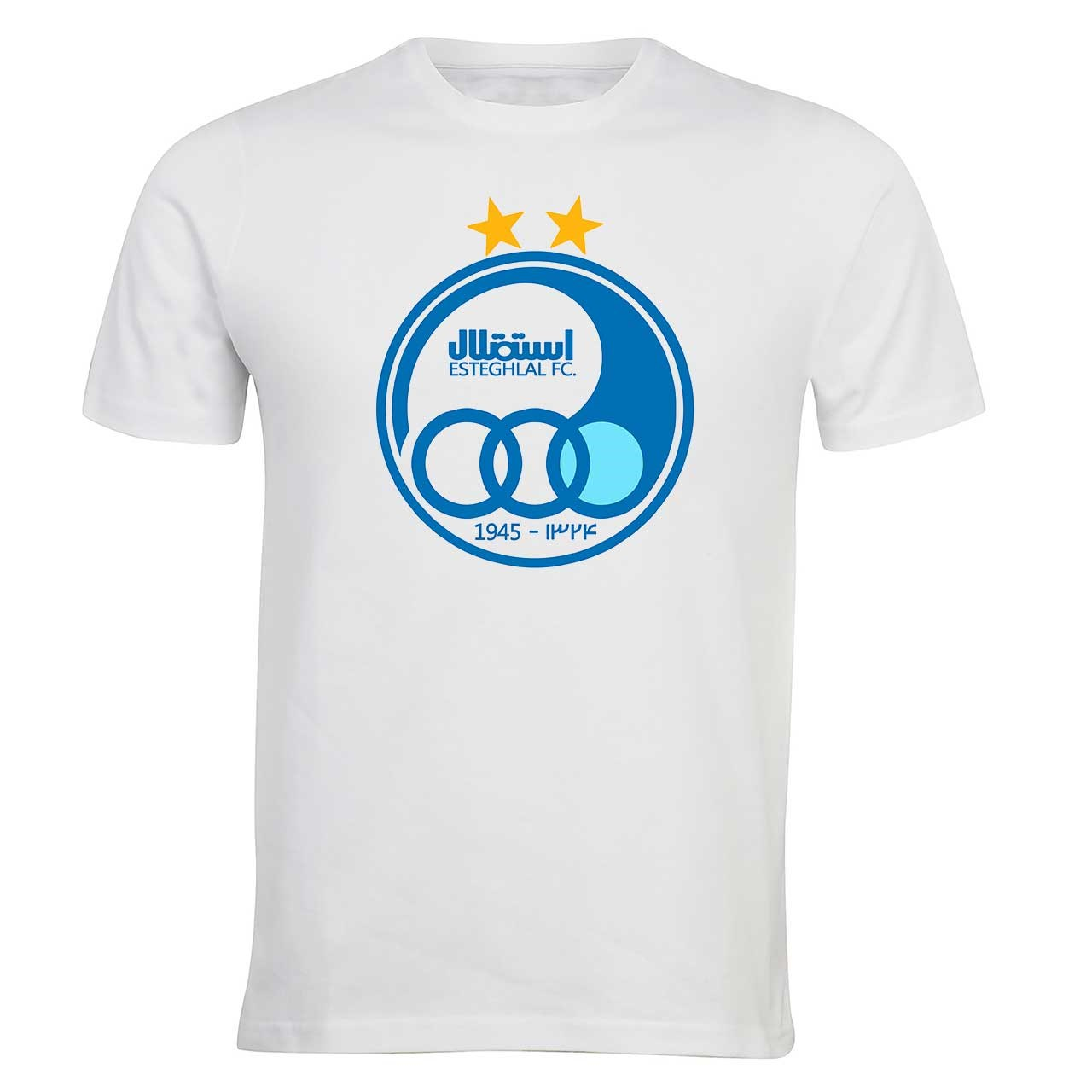 عکس تی شرت مردانه الینور طرح پرچم باشگاه استقلال مدل ELTM206
