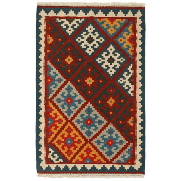 گلیم دستبافت یک متری مدرن فرش مدل قشقایی کد 2251
