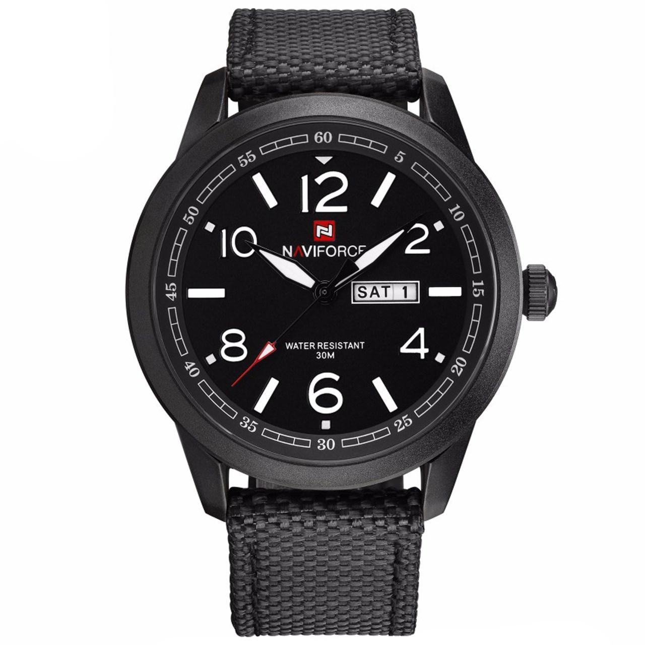 ساعت مچی عقربه ای مردانه نیوی فورس مدل NF9101M/BBW