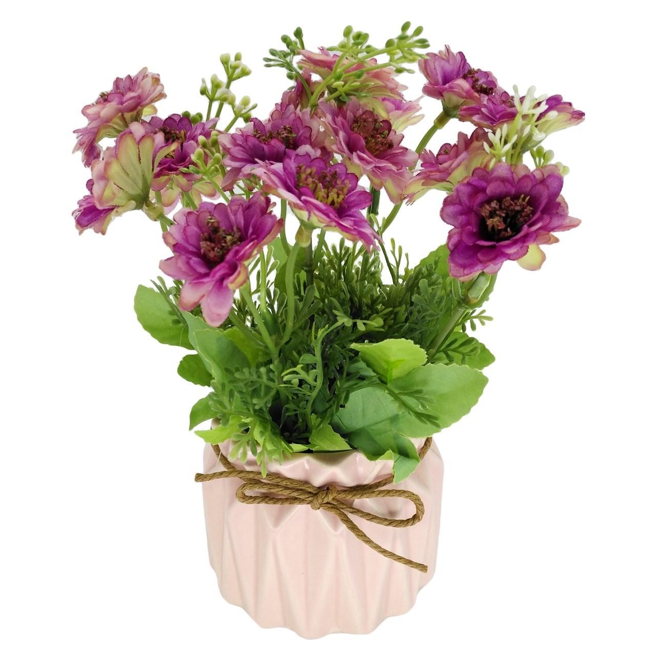 گلدان بهمراه گل مصنوعی هانا مدل 012