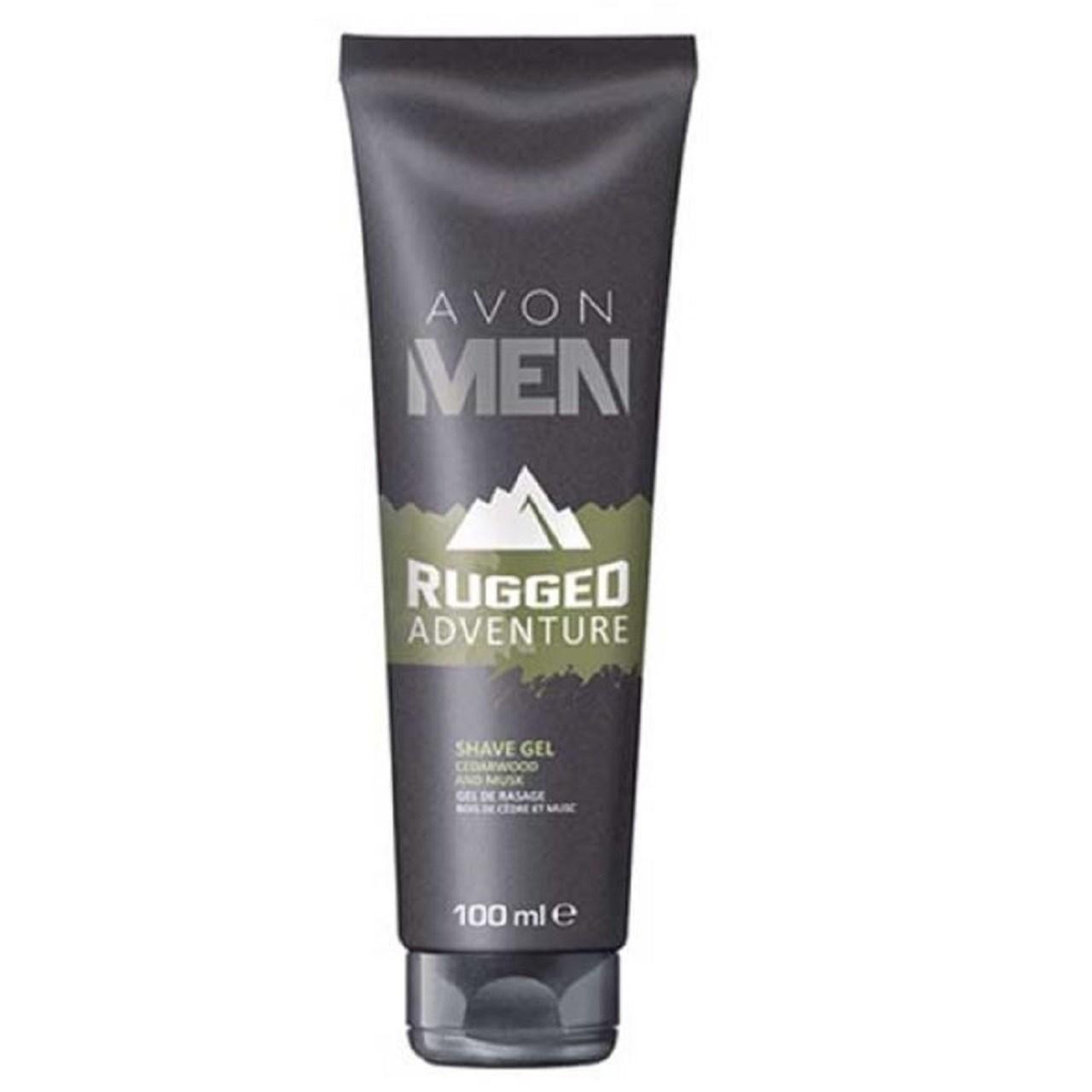 ژل اصلاح آون مدل Avon Men Rugged Adventure Shave Gel حجم 100 میلی لیتر
