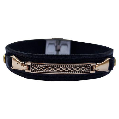 دستبند چرم خاطره مدل سیلور