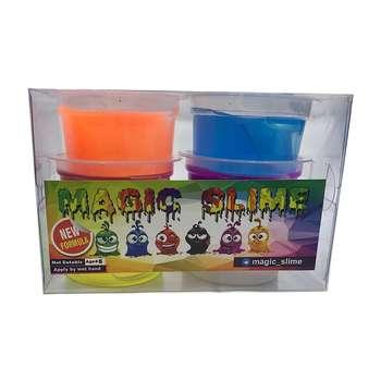 ژل بازی اسلایم مدل MAGIC بسته 6 عددی