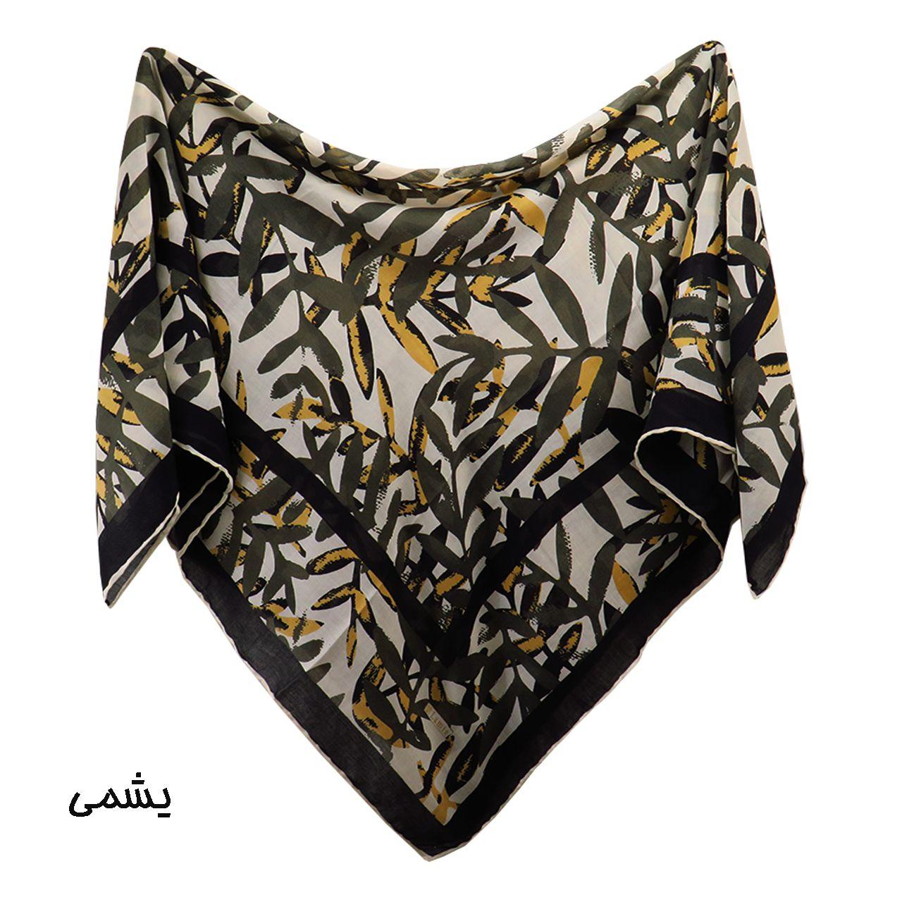 روسری زنانه لمیز مدل برگ  -  - 3
