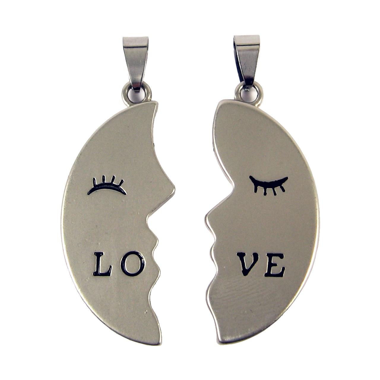 آویز گردنبند حامد گالری طرح عشق دو تکه مدل P001