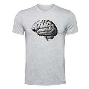 تیشرت آستین کوتاه ملانژ الینور طرح مغز مدل EML179
