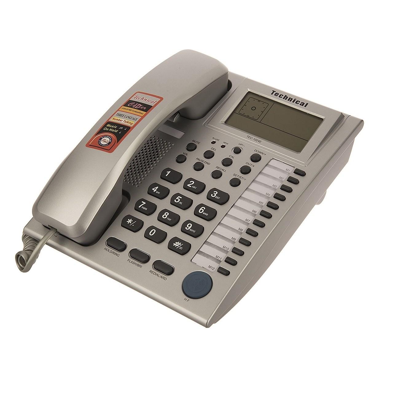قیمت                      تلفن تکنیکال مدل TEC-1024