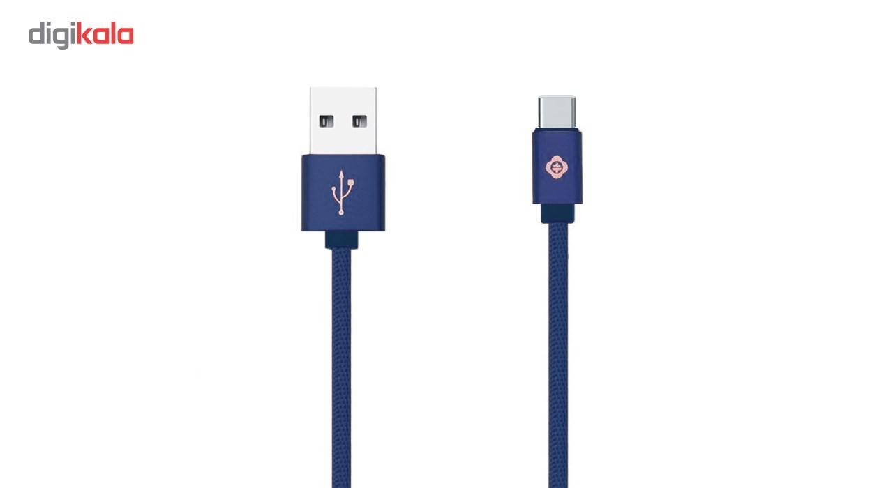 کابل شارژ USB به Type-C  توتو  مدل  Woven به طول 1 متر