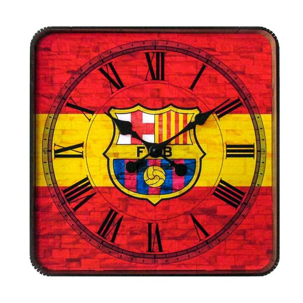 ساعت دیواری گلدن طرح بارسلونا کد AL-10010186