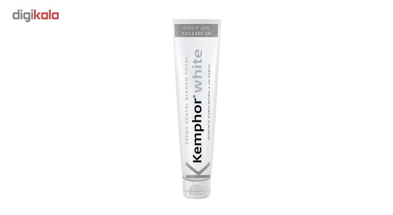 خمیر دندان سفید کننده کمفور مدل Kemphor White  حجم 75میلی لیتر main 1 1
