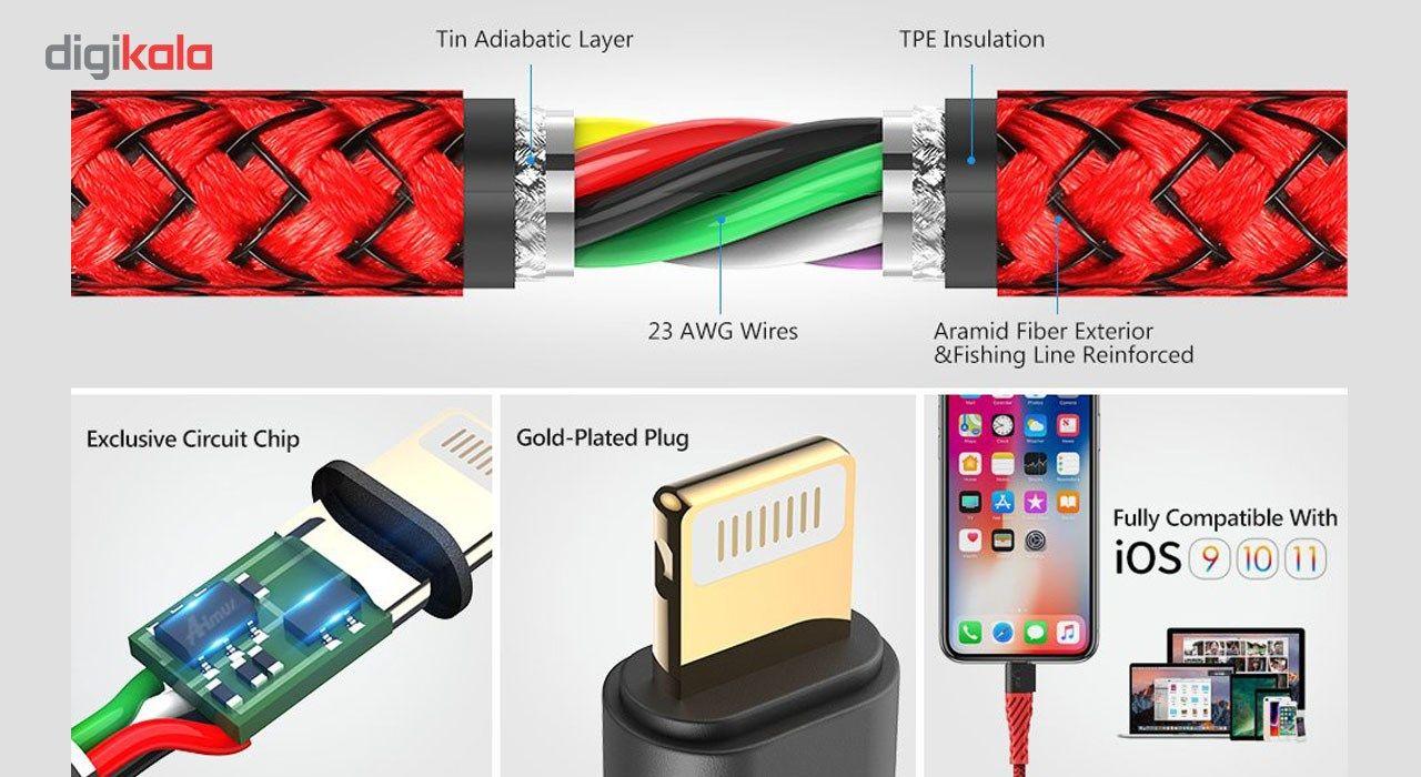 کابل تبدیل USB به لایتنینگ آیماس مدل Nylon به طول 1.8 متر main 1 5