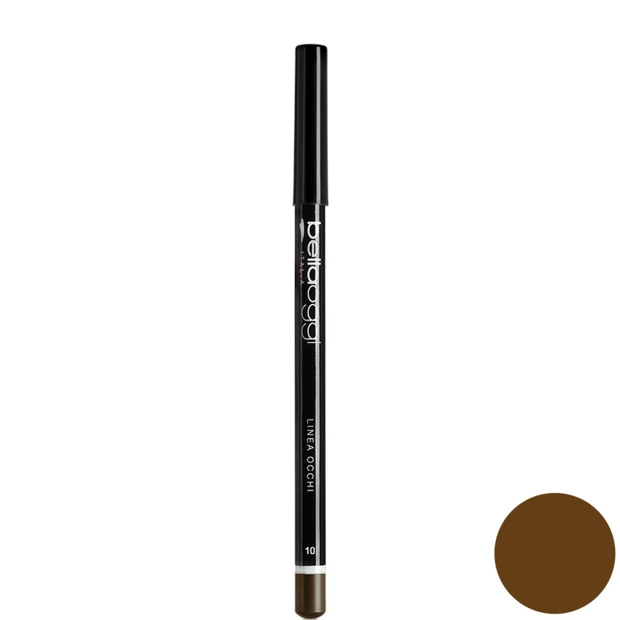 مداد چشم رنگی بلاوجی مدل LINEA OCCHI 010 شماره brown 010