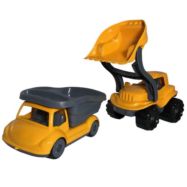مجموعه ماشین اسباب بازی مدل لودر و کامیون کد 10