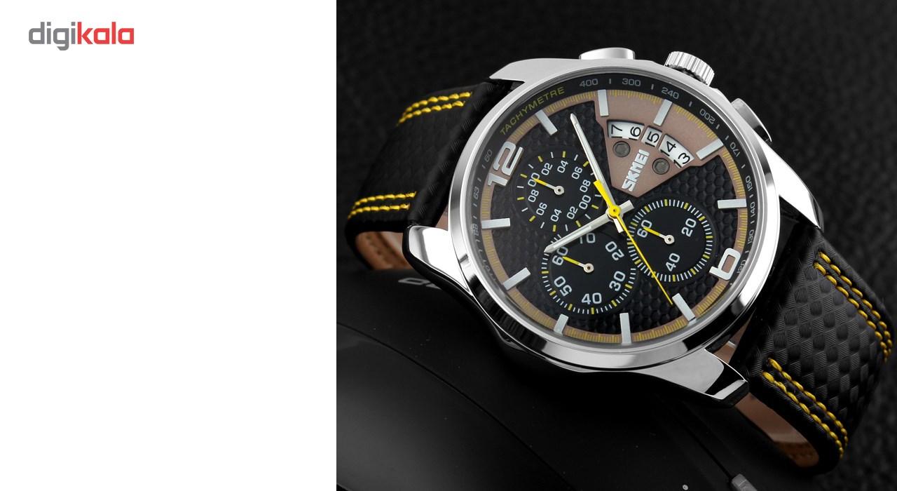 خرید ساعت مچی عقربه ای مردانه اسکمی مدل 9106  کد 04