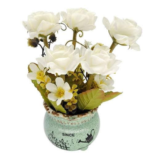 گلدان بهمراه گل مصنوعی هانا مدل 010