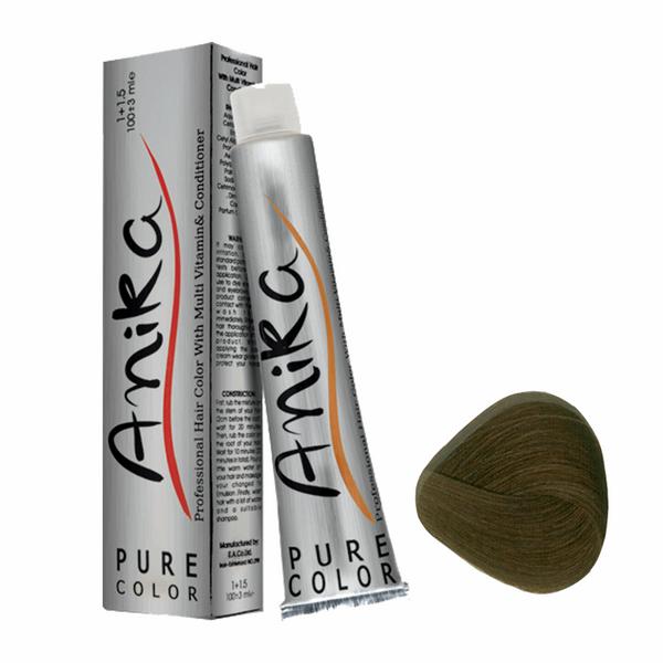 کیت رنگ مو آنیکا سری ASH مدل قهوه ای خاکستری شماره 4.1
