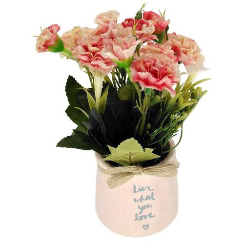گلدان بهمراه گل مصنوعی هانا مدل 011