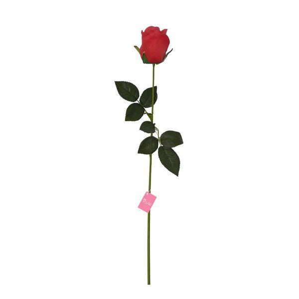 گل مصنوعی تولیپ طرح گل رز مدل باکارا لمسی کد 2