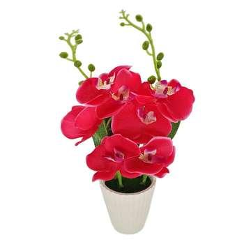 گلدان  بهمراه گل مصنوعی هانا مدل 013