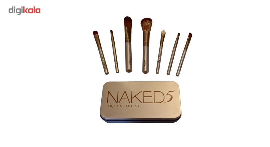 ست براش آرایشی اربن دیکی مدل Naked مجموعه 7 عددی
