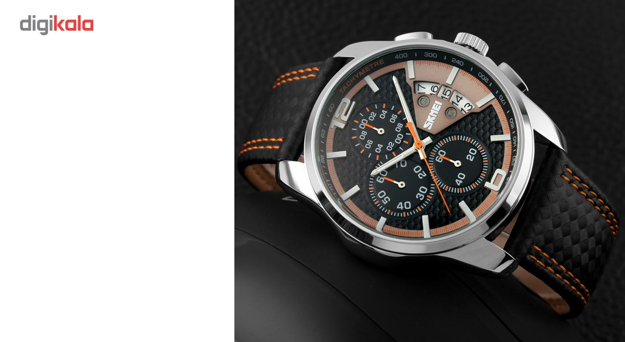 ساعت مچی عقربه ای مردانه اسکمی مدل 9106  کد 02